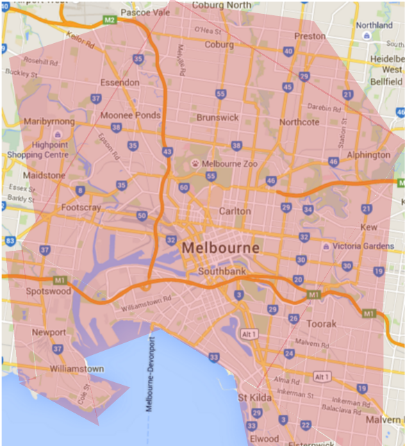 Mobile massage Melbourne suburbs service area