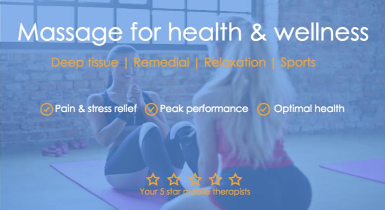 Home visit mobile massage in Melbourne